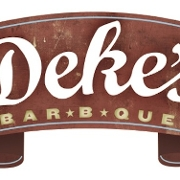 This is the restaurant logo for Deke's BBQ Catering and Carry Out