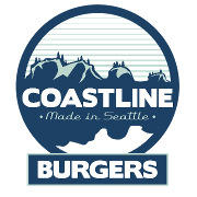 This is the restaurant logo for Coastline Burgers