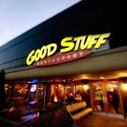 This is the restaurant logo for Good Stuff Restaurant