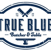 This is the restaurant logo for True Blue Butcher and Table