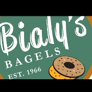 This is the restaurant logo for Bialy's Bagels