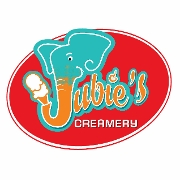 This is the restaurant logo for Jubie's Creamery