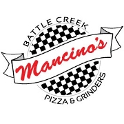 This is the restaurant logo for Mancino's Battle Creek
