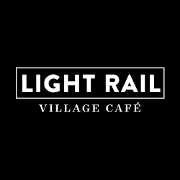 This is the restaurant logo for Light Rail Café