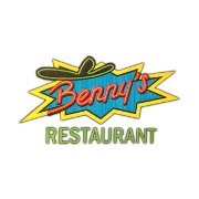 This is the restaurant logo for Benny's Restaurant