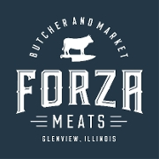 This is the restaurant logo for Forza Meats