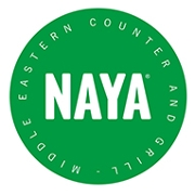 This is the restaurant logo for NAYA Mezze & Grill