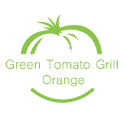This is the restaurant logo for Green Tomato Grill - Orange