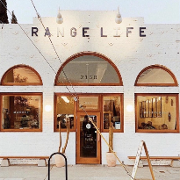 This is the restaurant logo for Range Life