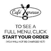 This is the restaurant logo for Cafe Xpresso