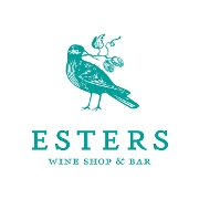 This is the restaurant logo for Esters Wine Shop and Bar