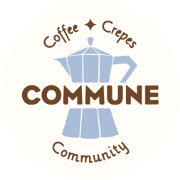 This is the restaurant logo for Commune Cafe