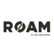 This is the restaurant logo for ROAM by San Chez