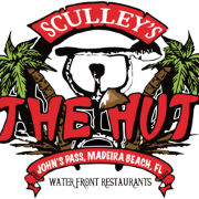 This is the restaurant logo for The Hut Bar & Grill