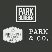 This is the restaurant logo for Park Burger, Homegrown Tap & Dough, Park & Co Gift Card