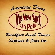 This is the restaurant logo for The New Spot On Polk