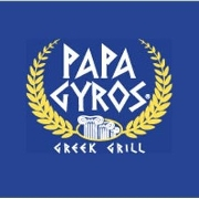 This is the restaurant logo for Papa Gyros