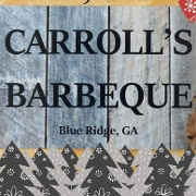 This is the restaurant logo for Carrolls BBQ