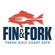 This is the restaurant logo for Fin and Fork