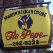 This is the restaurant logo for Tio Pepe