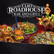 This is the restaurant logo for Clio Roadhouse