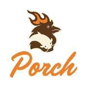 This is the restaurant logo for Porch