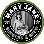 This is the restaurant logo for Mary Jane Burgers & Brew