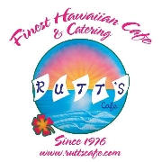 This is the restaurant logo for Rutts Hawaiian Cafe
