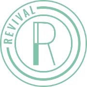This is the restaurant logo for Revival Cafe