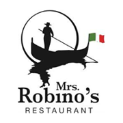 This is the restaurant logo for Mrs. Robino's