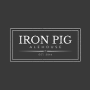 This is the restaurant logo for Iron Pig Alehouse