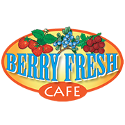 This is the restaurant logo for Berry Fresh Cafe