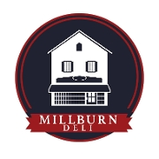 This is the restaurant logo for Millburn Delicatessen