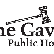 This is the restaurant logo for The Gavel Public House