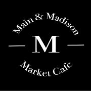 This is the restaurant logo for Main & Madison Market Cafe