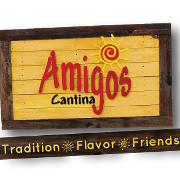 This is the restaurant logo for Amigos Cantina