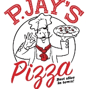 This is the restaurant logo for P Jays Pizza
