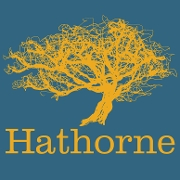 This is the restaurant logo for Hathorne