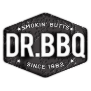 This is the restaurant logo for Dr. BBQ