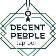 This is the restaurant logo for Decent People Taproom