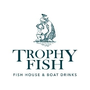 This is the restaurant logo for Trophy Fish