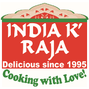 This is the restaurant logo for INDIA K' RAJA Restaurant