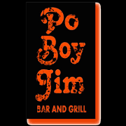 This is the restaurant logo for Po Boy Jim