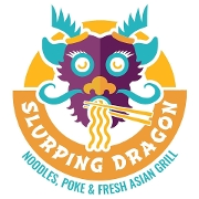 This is the restaurant logo for Slurping Dragon