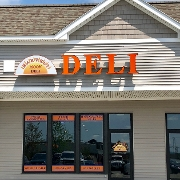 This is the restaurant logo for Harvest Moon Deli