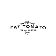 This is the restaurant logo for The Fat Tomato Italian Bistro