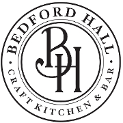 This is the restaurant logo for Bedford Hall Craft Kitchen & Bar