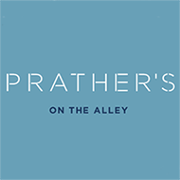 This is the restaurant logo for Prather's on the Alley