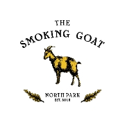 This is the restaurant logo for The Smoking Goat
