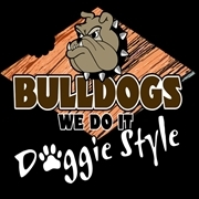 This is the restaurant logo for Bulldogs Bar & Grill